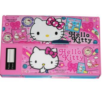 Spesial Box Pensil JUMBO 3D / Kotak Pensil Helokity / KarakterCewek Unik Import - Pink