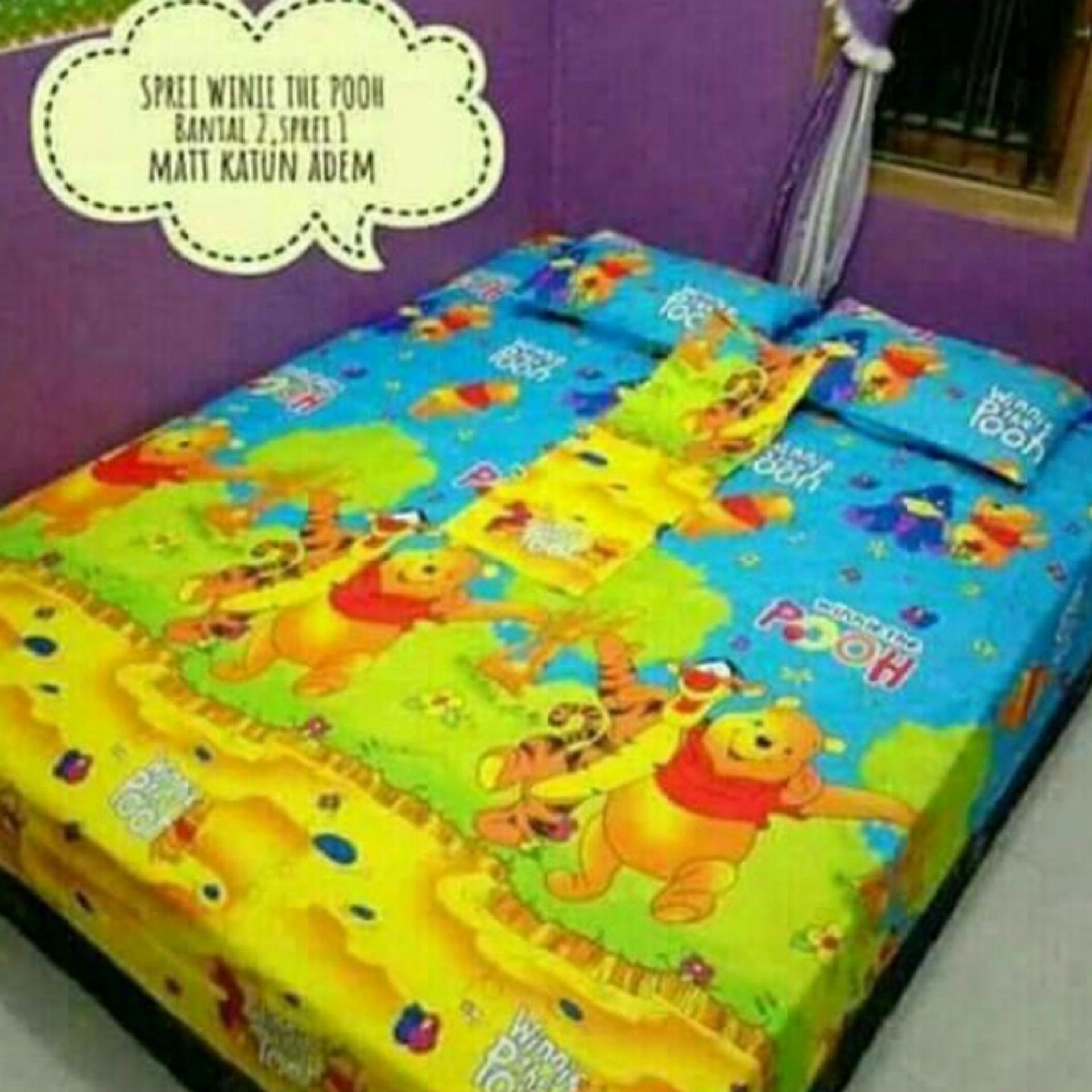 Hot Deals Sprei karakter motif winnie the pooh 200x200x20 terbaik murah - Hanya Rp93.456