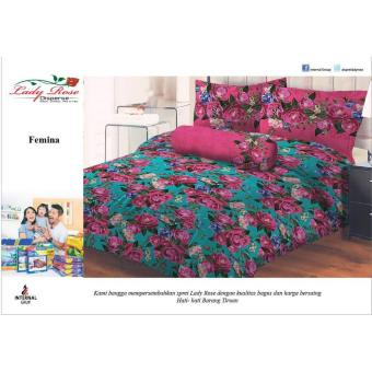 Sprei Lady Rose 160X200 Queen Terlaris Femina
