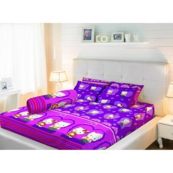 Sprei LadyRose King bantal 2 (180x200) KittyDaniel Purple