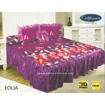 Sprei Rumbai King California motif Eolia