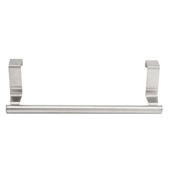 Stainless Steel Hook Door Towel Bar Holder Kitchen Bathroom Cupboard Rack Hanger intl 4