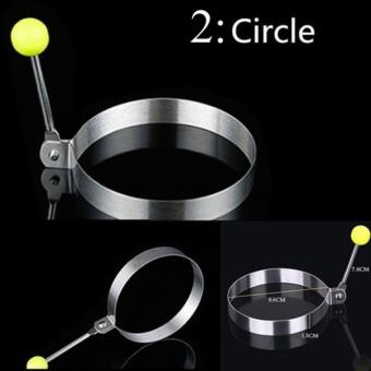 ... Stainless Steel telur goreng pembentuk cincin cetakan Pancakememasak alat-alat dapur bentuk acak (Silver