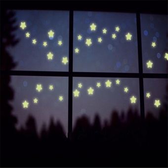 star sky luminous wall stickers home decoration DIY glow in thedark art wall decor for living room or kids rooms - intl