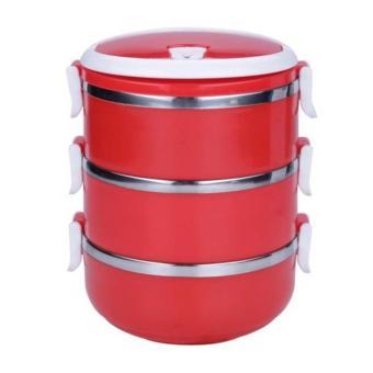 StarHome Rantang 3 Susun - Kotak Makan Stainless Steel - Lunch Box2100 ml Glossy