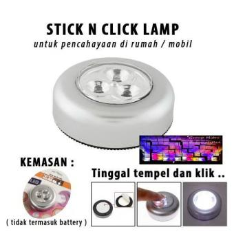 Stick N Click Lamp 3 Mata LED Lampu Tempel Emergency Stick TouchLamp