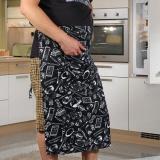 ... 2 Garis Setengah Celemek Masak Pelayan Dapur dengan Chef Fashion-Intl - 3 ...