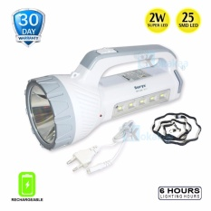 Surya Lampu Emergency SHT L225 Senter Super LED2w+ Light LED 25 SMDRechargeable