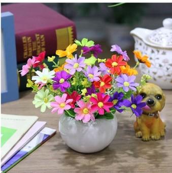 Sutra pot bunga buatan hias bunga