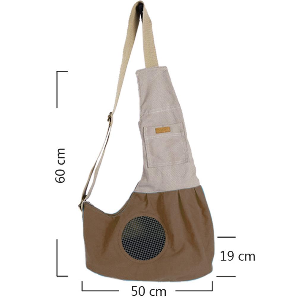 Tas untuk membawa Anjing/Kucing Peliharaan (Coklat kopi)