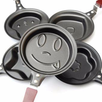 ... Teflon Mini Karakter / wajan kecil fry pan bentuk - SMILE FACE - 5