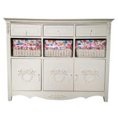 The Olive House - Lemari Kabinet Rosemarry 9 drawer + Cover Bunga