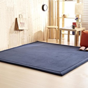 Thick Coral Fleece Tatami Tea Table Mat Carpets Bedroom CarpetRectangle Living Room Rug Baby Crawling Carpet 50X100X2.5CM - intl