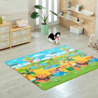 Tops Bridge Three Forest Bears Playmat 185x140x1.4cm