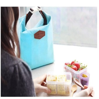 Tote Portable Insulated Pouch Cooler Waterproof Food Storage Bag Blue - intl