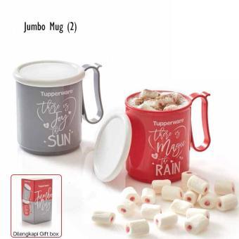 Tupperware Jumbo Mug/Tupperware Gelas Minum Jumbo 600mL 1 Set (2pcs)