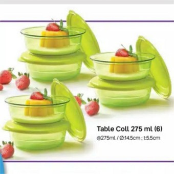 Tupperware Table Collection 275 Ml 6pcs