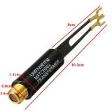 ... UHF VHF FM Berlapis Emas 75-300 Ohm TV Antena Coaxial Cable Matching Transformer ...