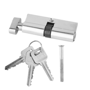 UINN 70mm Aluminum Door Lock Cylinder Home Security Anti-Snap 3 Keys Silver Tone silver