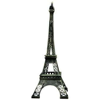Vintage Paris Eiffel Tower Figurine Home Decor 15CM