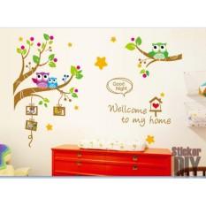 Wall Sticker XY1159 Welcome To My Home - Stiker dinding Untuk Dekorasi Kamar Anak Wall Sticker Anak -  Sticker Dinding Murah Penghias Dinding Rumah Wallpaper Dinding Lucu - Warna Random