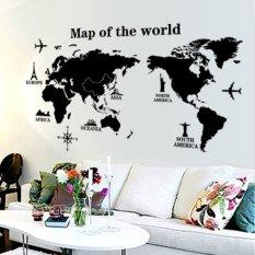 Wall Stiker Map of the world