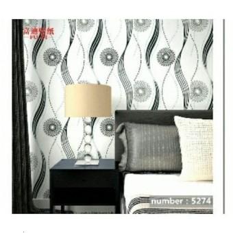 Wallpaper-dinding walpaper stiker dinding 45cmx10m Terbaru