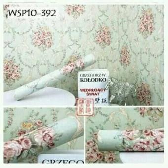 Wallpaper Sticker Dinding Motif Bunga Mawar