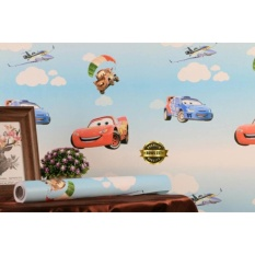 Wallpaper Sticker Dinding Motif Kartun Cars