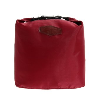 Waterproof Thermal Cooler Insulated Lunch Box Storage (Wine Red)