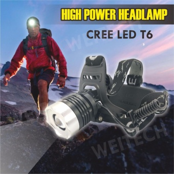 WEI TECH Headlamp Senter Kepala Led T6 08