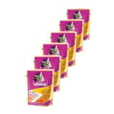 Whiskas Adult Seafood Cocktail 85gr (6 Pcs)