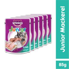 Whiskas Pouch Junior Kitten Tuna – 85gr (6 Pcs)