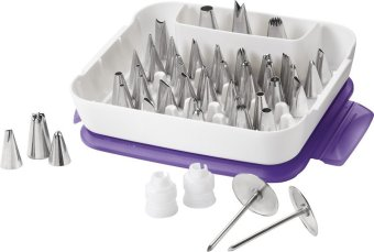 Wilton Master Decorating Tip Set, 55-Piece decorating tips,2104-0240 - intl