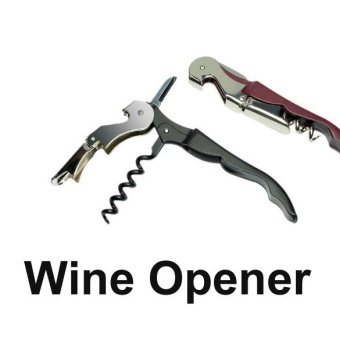 Wine Bottle Cap Opener Corkscrew Stainless Steel Metal With Plastic Handle - intl