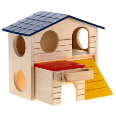 WiseBuy rumah kandang tempat tidur kayu lapis ganda Villa untuk tikus tupai