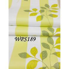 WPS189 GREEN LINE WALPAPER-DINDING WALL PAPER STIKER STICKER
