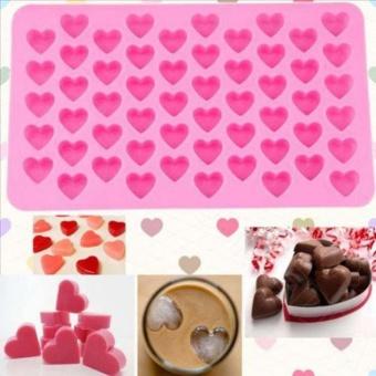 Yika Silikon 55 Heart Cake Chocolate Baking Ice Cube Sabun Jelly Baking Cetakan Talam-Internasional
