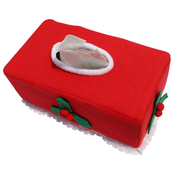 Yingwei Christmas Clothes Tissue Box Cover B (Red)