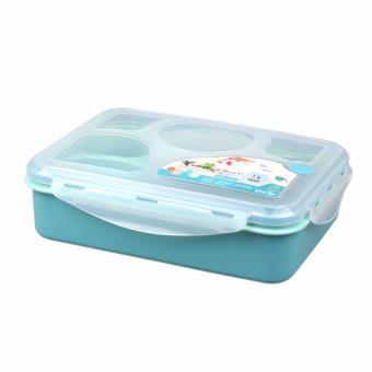 Yooyee Lunch Box 5 Sekat + Tempat Sup - Biru