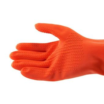 ... YOUNG YOUNG Latex Gloves IL SARUNG TANGAN 8.5INCH Karet Rubber - Orange - 3 ...