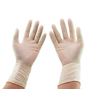 ... Detail Gambar Produk YOUNG YOUNG Sarung Tangan IL LATEX EXAMINATION GLOVES 8 Steril Dokter Suster Putih