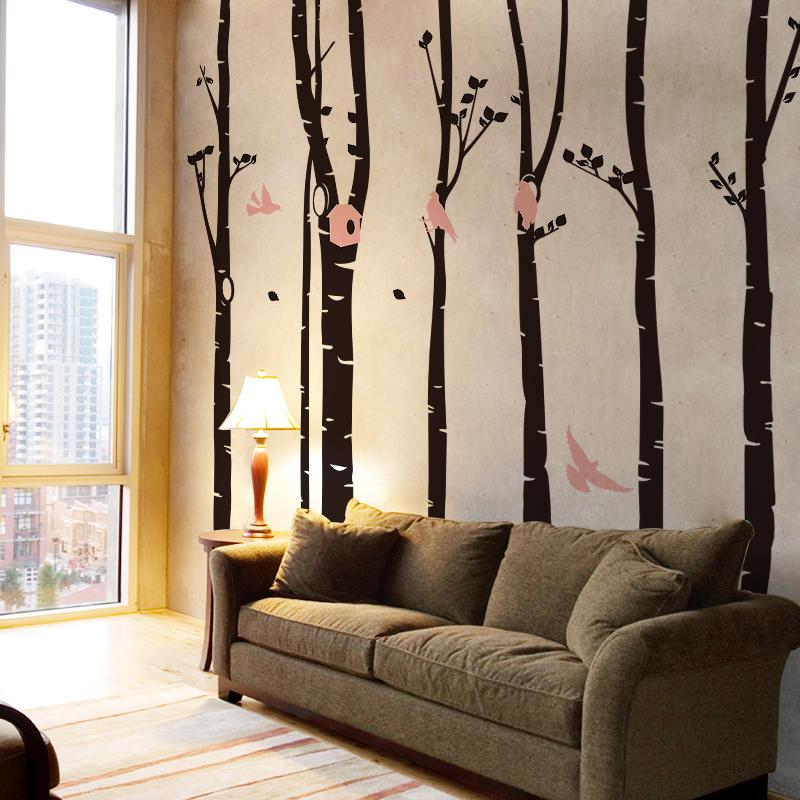 Linxing Muslim Gaya Dinding Seni Stiker Yang Bisa Dilepas Dekorasi Rumah Islam Decal, 22.4x10. Source · ZooYoo hutan dan burung sofa ruang tamu stiker ...