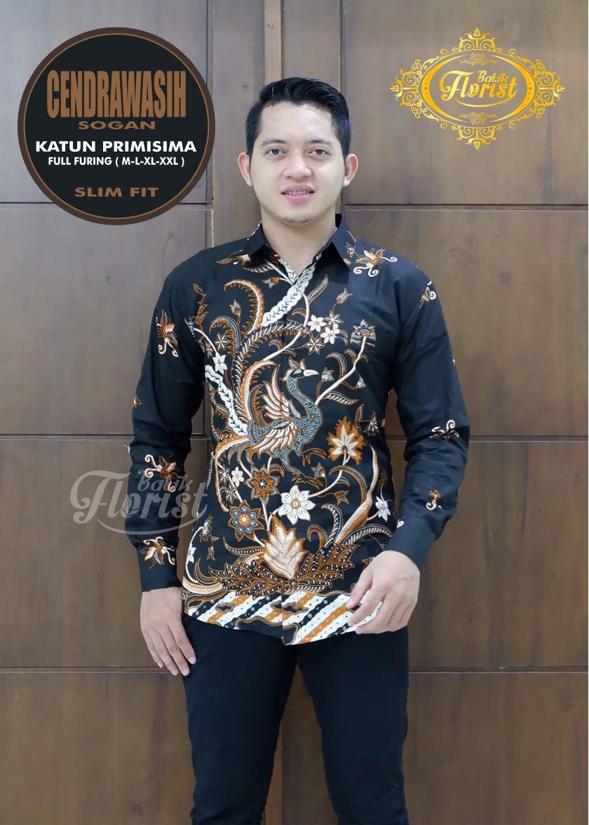 45 Desain Baju Batik Pria Modern Lengan Panjang