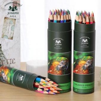 24 Warna 3mm Tidak Beracun Secret Garden Graffiti Pensil Dengan Silinder Paket Intl