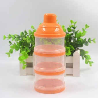 3 Layer Baby Milk Powder Box Portable Baby Infant Feeding StorageContainer Organizer Food Case Box Dispenser