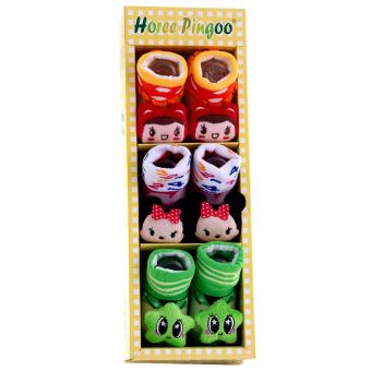 AA Toys Kaos Kaki Baby Girls Horee Pingoo 3 Pcs - Kaus Kaki Bayi Perempuan - 2