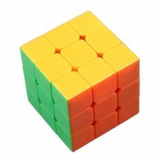 AA Toys Magic Cube Rubik 3 x 3 Stickerless Color Mika - Mainan Rubik Base Putih Stikerless 3x3