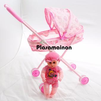 AA Toys Mainan Stroller boneka roda 4 Plus Boneka - Mainan Anak Stroller Boneka  Mainan 893d3a2041