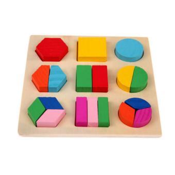 AA Toys Puzzle Kayu Geometri Model A - Mainan Anak Wooden Puzzle 3D